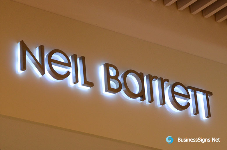 3d-led-backlit-signs-with-painted-stainless-steel-letter-shell-and-20mm-thickness-acrylic-back-panel-for-neil-barrett