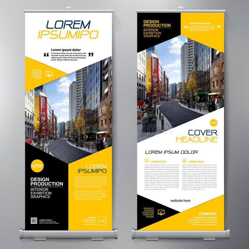 business-roll-up-standee-design-banner-template-presentation-brochure-flyer-vector-illustration-90357592