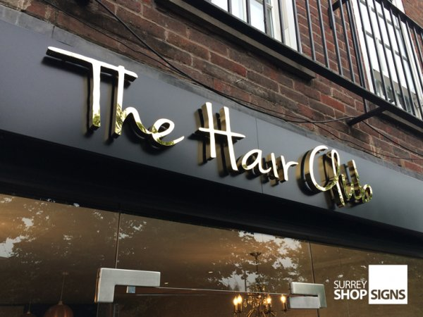 hair_club_gold_3d_metal_letters